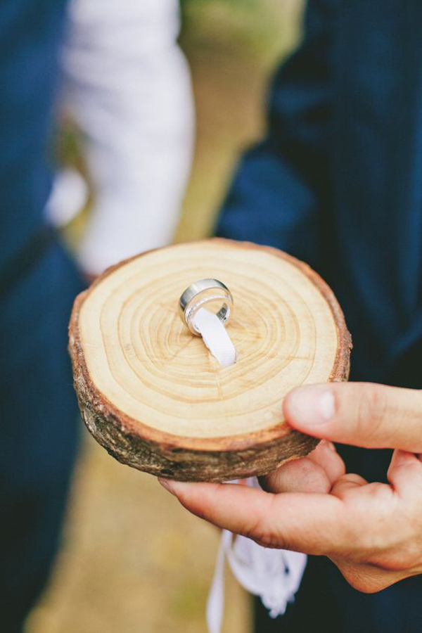 Ringkissen Holzscheibe