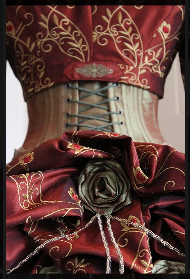 Viktorianisches Kleid Rückansicht