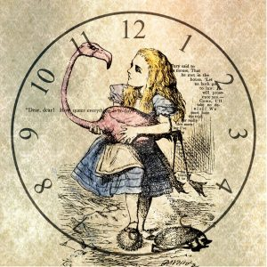 Alice in Wonderland Uhr