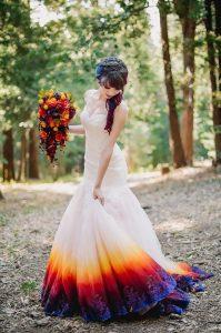 buntes Hochzeitskleid