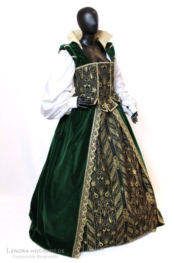 Prunkvolles Renaissance Hochzeitskleid. Design & Copyright: Lenora ®